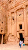 Jordan, Petra, the royal tomb Stock Image