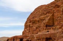 Jordan, Petra, a royal tomb in the rocks Stock Photos