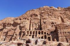 Jordan, Petra, Royal tombs Royalty Free Stock Image