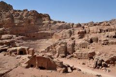 Jordan -  Petra. Jordan, Petra, ruins of amphiteathre Stock Images