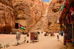 Jordan, Petra, sale of souvenirs Stock Images