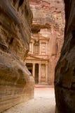 jordan petra-treasery Royaltyfri Foto