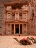 Jordan, Petra. Treasure Trove (Treasury) Stock Photo