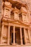 Jordan, Petra. Treasury. Jordan, Petra. Majestic Treasury carved into the rocks Royalty Free Stock Photos