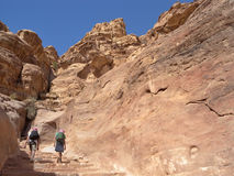 Jordan -  Petra, uphill to Monastery Royalty Free Stock Photography