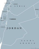 Jordan Political Map Images stock