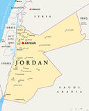 Jordan Political Map Stock Images
