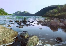 Jordan Pond. Maine Royalty Free Stock Images