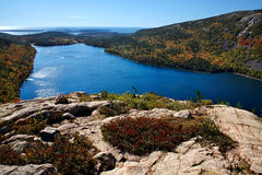Jordan Pond. Seen From The North Bubble, Acadia National Park, Maine Stock Photography