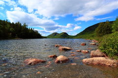 Jordan Pond Acadia National Park Photographie stock