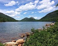 Jordan Pond. In Acadia National Park in Maine Royalty Free Stock Images