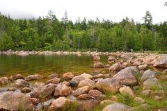 Jordan Pond am Acadia-Nationalpark Lizenzfreies Stockbild