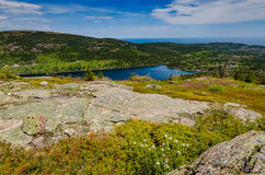 Jordan Pond - Acadia-Nationalpark - Maine Stockfotografie