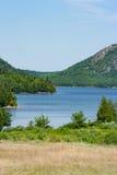 Jordan Pond - Acadianationalpark Royaltyfri Bild