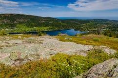 Jordan Pond - Acadianationalpark - Maine Arkivbild