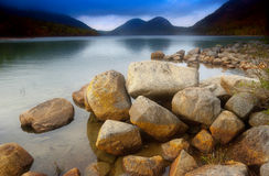 Jordan pond with bubble rocks Stock Images
