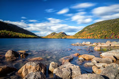 Jordan Pond i Acadianationalpark Royaltyfri Foto
