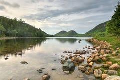 Jordan Pond im Acadia-Nationalpark Lizenzfreie Stockbilder