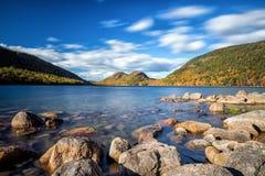 Jordan Pond im Acadia-Nationalpark Lizenzfreies Stockfoto