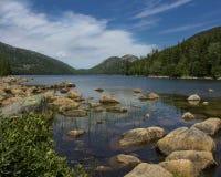 Jordan Pond, Maine Royalty Free Stock Photos