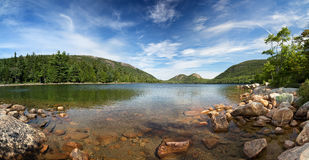 Jordan Pond Panorama Stockbilder