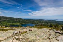 Jordan Pond - parc national d'Acadia - Maine Photos stock