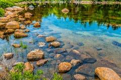 Jordan Pond - parco nazionale di acadia fotografia stock libera da diritti