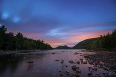 Jordan Pond sunset Royalty Free Stock Images