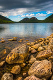 Jordan Pond and view of the Bubbles in Acadia National Park, Mai Stock Photography