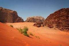 Jordan: Red Dunes Royalty Free Stock Image