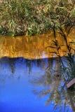 Jordan River Abstract Near Bethany Betharaba onde John batizou Jesus Jordan foto de stock royalty free