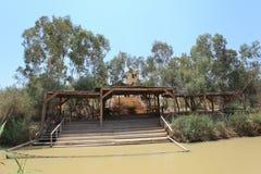 Jordan River & bank i Qasr el Yahud, Israel Royaltyfri Bild