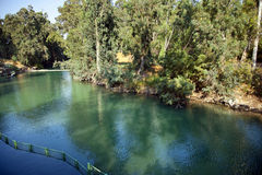 Jordan River Baptismal Site Immagine Stock