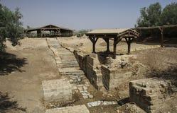Jordan River Bethany voorbij Jordanië - Jesus Baptism Site Door royalty-vrije stock afbeeldingen