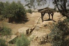 Jordan River Bethany voorbij Jordanië - Jesus Baptism Site Door royalty-vrije stock afbeelding