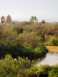 Jordan River em Bethany Beyond Jordânia fotos de stock royalty free