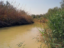 Jordan River, Israele fotografie stock libere da diritti