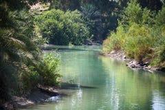 Jordan River, lugar del bautismo Imágenes de archivo libres de regalías