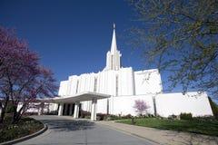 Jordan River Mormon Temple, Jordanie du sud, Utah images stock