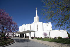 Jordan River Mormon Temple, South Jordan, Utah. Jordan River Temple -- Church of Jesus Christ of Latter-day Saints. South Jordan, Utah stock images