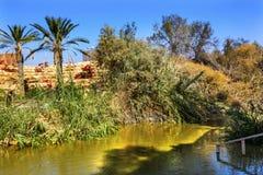 Jordan River Near Betharaba Bethany au delà de la Jordanie images libres de droits
