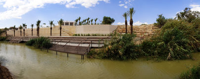 Jordan river panorama Royalty Free Stock Photos