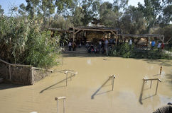Jordan river the place of baptism. Stock Photo