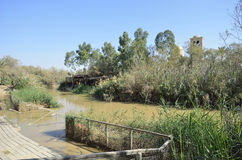 Jordan river the place of baptism. Royalty Free Stock Images