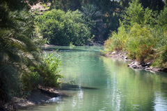 Jordan River, place of baptism. Jordan river. The place where Jesus was baptized Royalty Free Stock Images