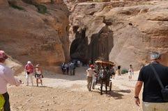 Jordan. Rocks. The road to the ancient city Petre. Stock Photo