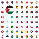 Jordan round flag icon. Round World Flags Vector illustration Icons Set. Jordan round flag icon. Round World Flags Vector illustration Icons Set Royalty Free Stock Images