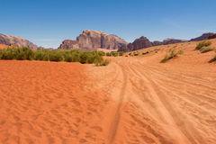 Jordan rumu wadi desert Obraz Royalty Free
