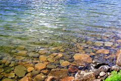 Jordan's Pond. Close up of Jordan's Pond's clear water in Acadia National Park Stock Photography