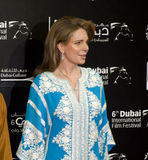Jordan's Queen Noor at DIFF. Queen Noor of Jordan, The Jordanian royal is known throughout the world for her humanitarian work, during the red carpet event of Royalty Free Stock Images